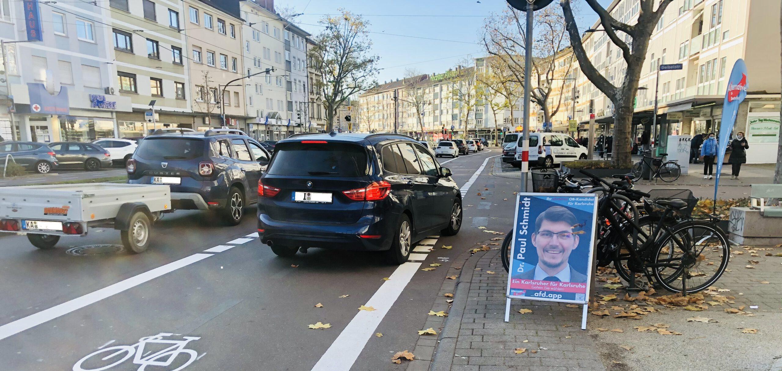 Radwege gegen Autofahrer